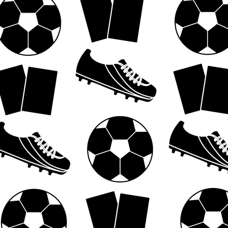 ball cleat cards football soccer pattern image vector illustration design  black and white 向量圖像