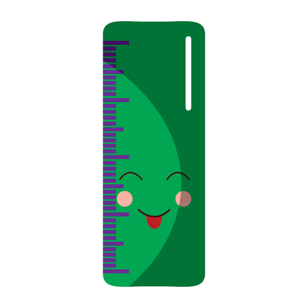 ruler happy  school supplies kawaii icon image vector illustration design