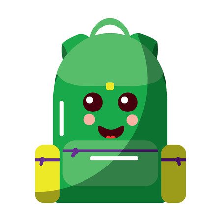 School backpack cartoon character vector illustration Stock fotó - 93506116