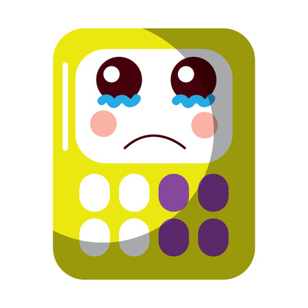 A calculator math kawaii character cartoon vector illustration