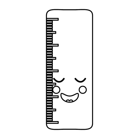 学校定規漫画キャラクター可愛いベクトルイラスト