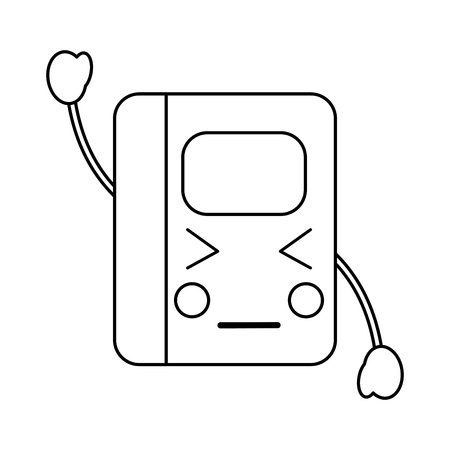 notebook boos school levert es pictogram afbeelding vector illustratie ontwerp zwarte lijn