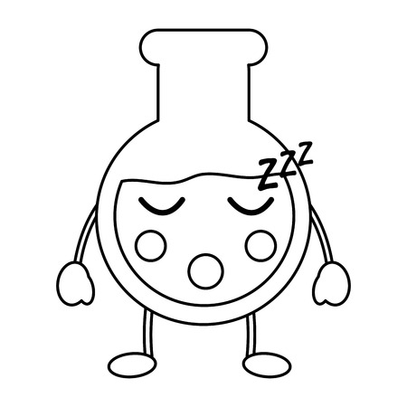 flask sleep laboratory icon image vector illustration design black line
