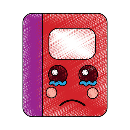 kawaii notebook school cartoon character vector illustration Illustration