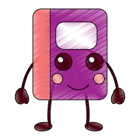 kawaii notebook school cartoon character vector illustration Иллюстрация
