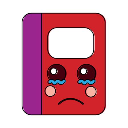notebook school cartoon character vector illustration Illustration