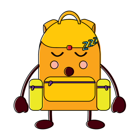backpack sleep school supplies  icon image vector illustration design Illustration