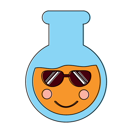flask sunglasses laboratory icon image vector illustration design Illustration