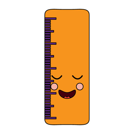 ruler happy school supplies icon image vector illustration design