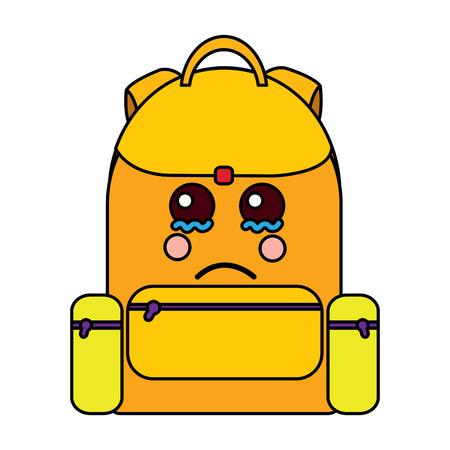 Traurige Rucksack Schule liefert Symbol Bild Vektor Illustration design Standard-Bild - 93484354