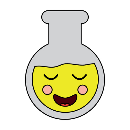 happy flask laboratory icon image vector illustration design Illustration