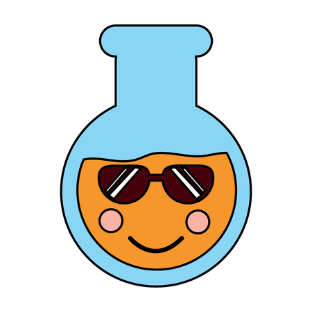 flask sunglasses laboratory icon image vector illustration design Illustration