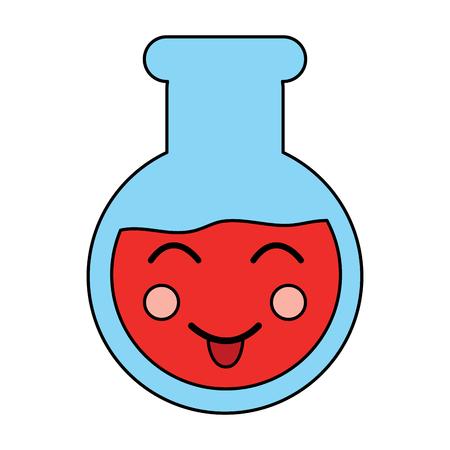 happy flask laboratory icon image vector illustration design Illustration