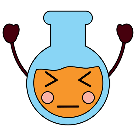 angry flask laboratory icon image vector illustration design