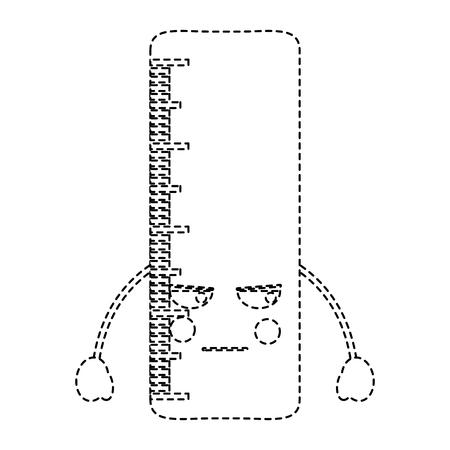 school ruler comic character vector illustration sticker design