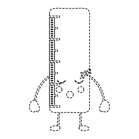 School ruler comic character vector illustration