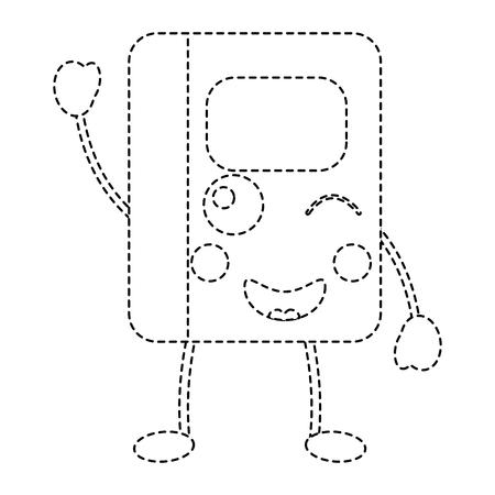 notebook school cartoon character vector illustration sticker design Illustration