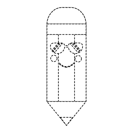 wooden pencil cute cartoon vector illustration sticker design