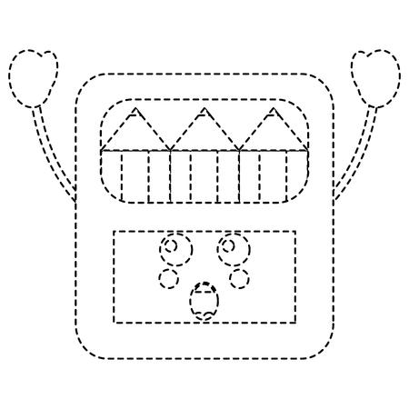 pencils in box   character vector illustration sticker design Stock Illustratie