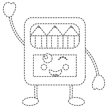 potloden in doos karakter vector illustratie sticker ontwerp