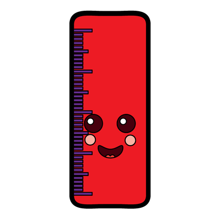 Ruler happy school supplies icon image. Vector illustration design. Illustration