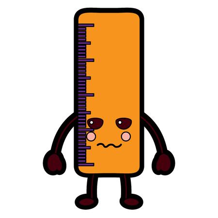 ruler sad school supplies icon image vector illustration design 向量圖像