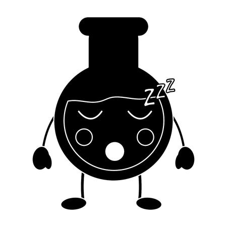 flask sleep laboratory kawaii icon image vector illustration design Illustration