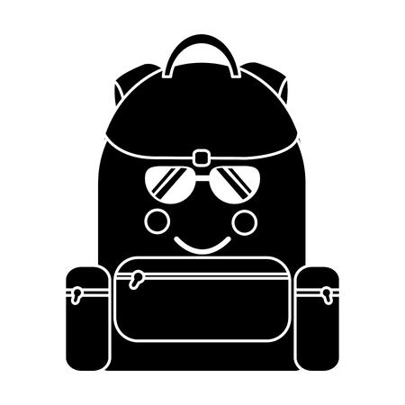 backpack sunglasses school supplies  icon image vector illustration design Stock fotó - 93527214