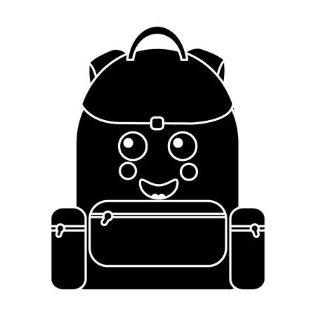 happy backpack school supplies icon image vector illustration design Stock fotó - 93527215