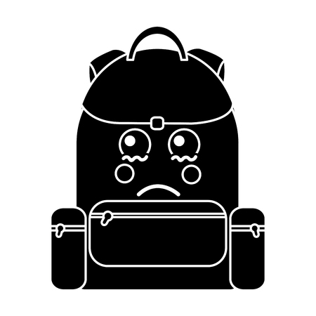 sad backpack school supplies   icon image vector illustration design Stock fotó - 93527217