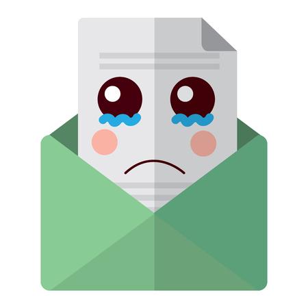 Email envelope letter message cartoon vector illustration
