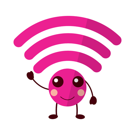 happy wifi  icon image vector illustration design