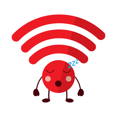 wifi sleep icon image vector illustration design