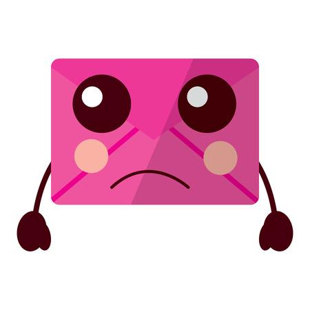 sad message envelope  icon image vector illustration design