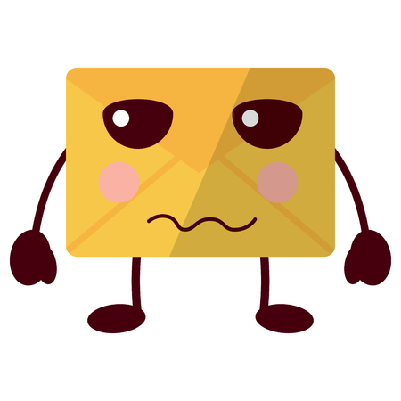 angry message envelope icon image vector illustration design