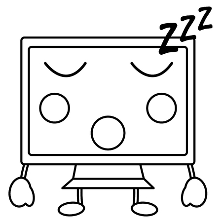 computer monitor sleep  icon image vector illustration design Çizim