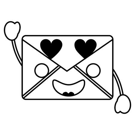 Mail envelope kawaii character cartoon vector illustration outline design 版權商用圖片 - 93505917