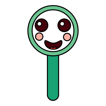 happy magnifying glass  icon image vector illustration design