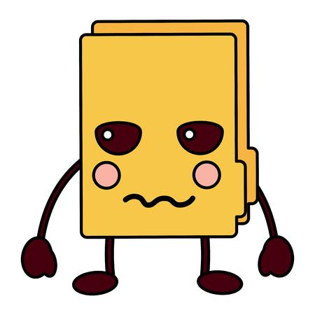 angry file folder kawaii icon image vector illustration design Stock fotó - 93524498