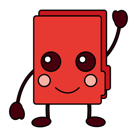 happy file folder kawaii icon image vector illustration design