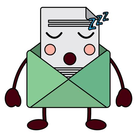귀여운 이메일 봉투 편지 메시지입니다. 만화 벡터 일러스트 레이 션.