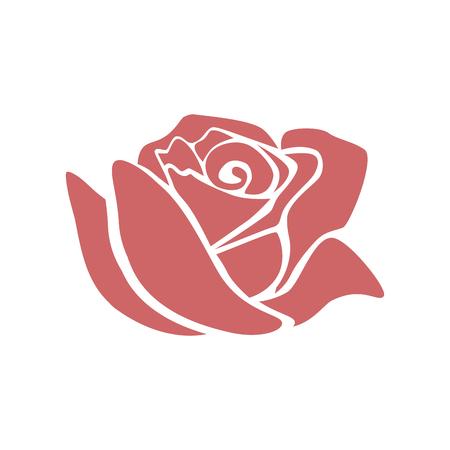 Beautiful rose  icon  illustration design Vettoriali