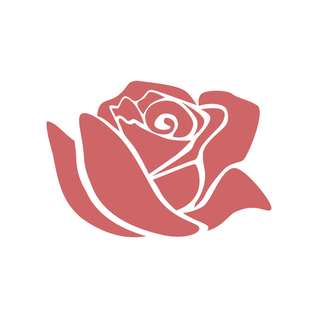 Beautiful rose  icon  illustration design Stock Illustratie