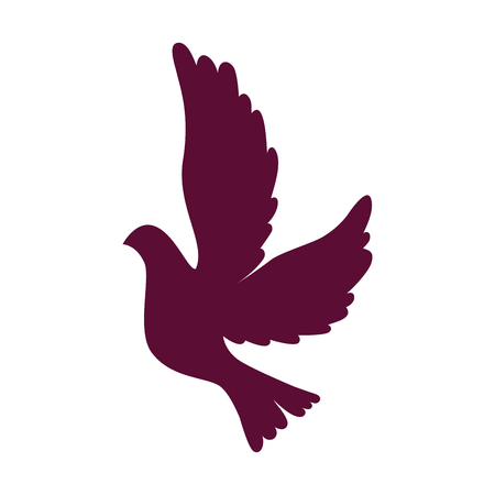 Dove flying isolated icon vector illustration design.