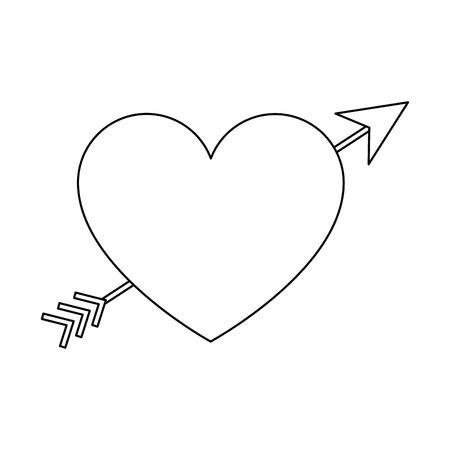 Heart with arrow icon vector illustration design Иллюстрация