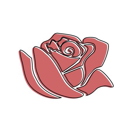美しいバラ孤立アイコンベクトルイラストデザイン  イラスト・ベクター素材