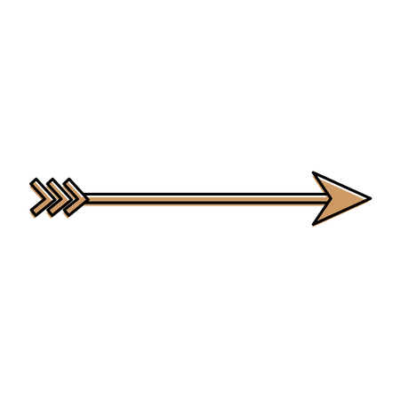 Arrow arch isolated icon vector illustration design