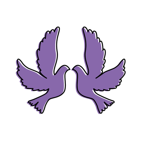 doves flying isolated icon vector illustration design Ilustracja