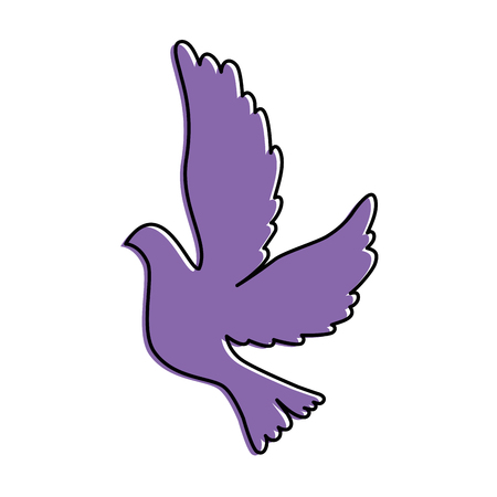 dove flying isolated icon vector illustration design Ilustração