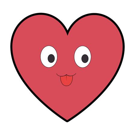 Cute heart character vector illustration design
